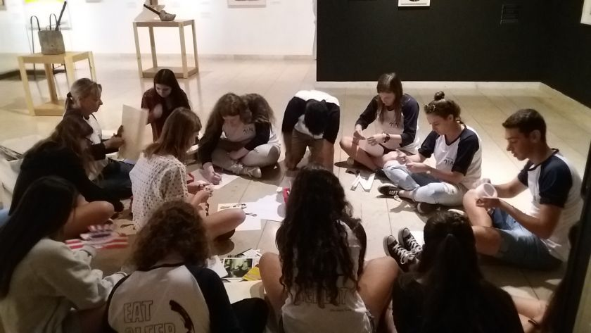 Educational activities in the workshops related to the exhibition of Boris Lurie's work on the centennial of the Dada movement