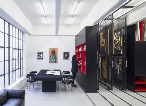 Warehouse Gallery The gallery designed by Julian von der Schulenburg to show, store and manage Gertrude Stein's collection is a programmatic hybrid of an art storage and exhibition space.
